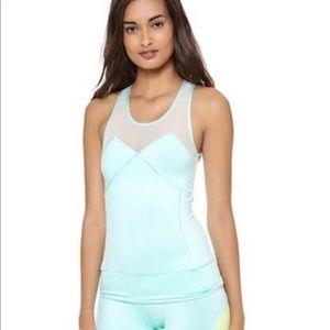 Stella McCartney Adidas green workout top